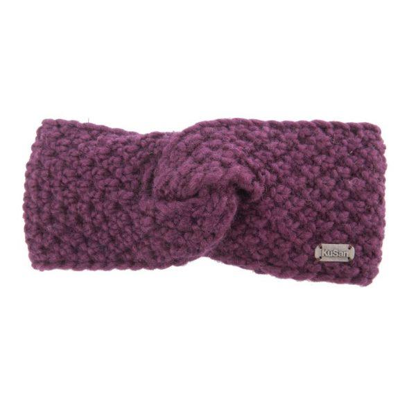Purple Moss Yarn Headband