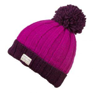 Purple Bobble Hat