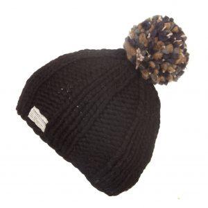 Black Moss Yarn Multi Bobble Hat