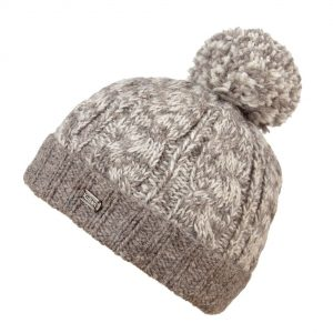 Oatmeal Cable Turn Up SP Bobble Hat