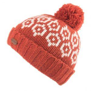 Orange Bobble Hat