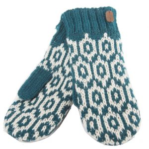 Petrol Mittens with Sherpa Lining