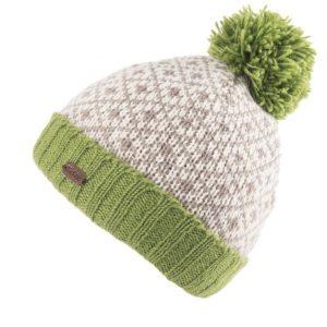 Green Fleur de Lis Bobble Hat