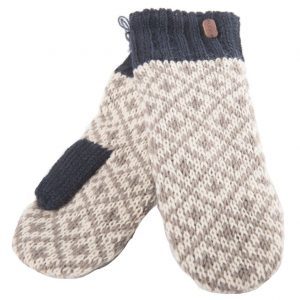 Navy Mittens-with Sherpa Lining