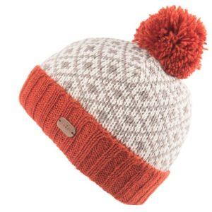 Orange Fleur de Lis Bobble Hat