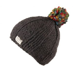 Charcoal Moss Yarn Multi Bobble Hat