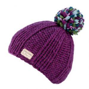 Purple Moss Yarn Multi Bobble Hat