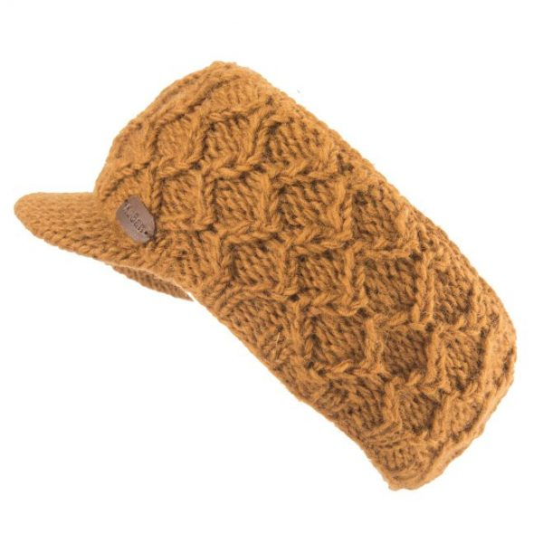 Caramel Cable Headband with Peak