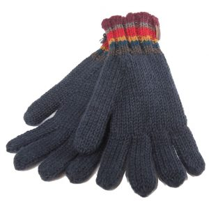 Navy Finger Gloves