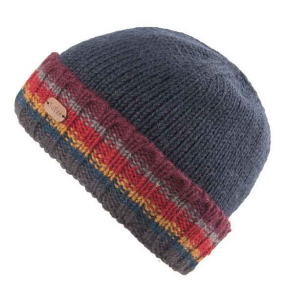 Navy Turn Up Pull On Hat