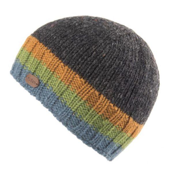 Charcoal-Green Hi Rib Pull On Hat