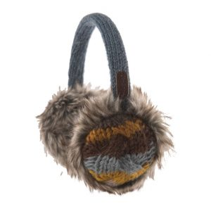 Denim Cable Stripe Earmuffs
