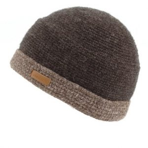 Charcoal Turnup Crochet Cap
