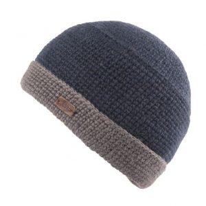 Navy Grey Crochet Turn Up