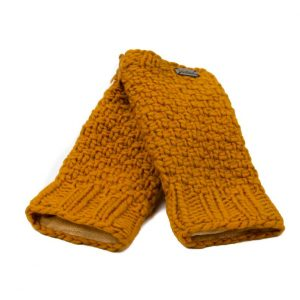 Caramel Moss Yarn Handwarmers