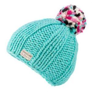Aqua Moss Yarn Multi Bobble Hat