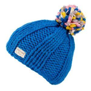 New Blue Moss Yarn Multi Bobble Hat