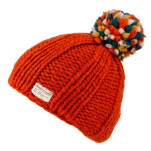 Orange Moss Yarn Multi Bobble Hat